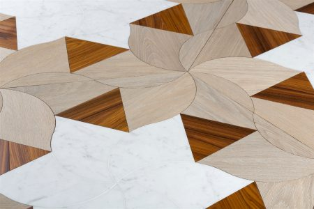 wood and marble floor