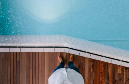 parquet per esterno piscina