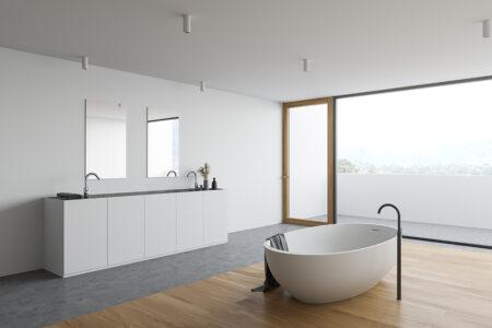 accostare parquet e piastrelle in bagno